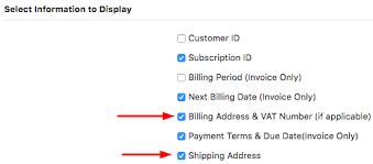 Invoice For Shipping Can The Shipping And Billing Addresses Be Displayed On The Invoice