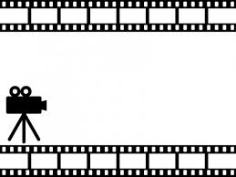 映画のフィルム風のフレーム飾り枠イラスト 無料イラスト かわいい