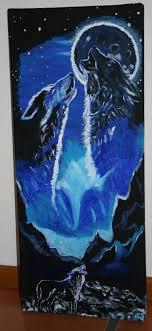 saatchi art artist alina mardare rossi painting wolfs couple full moon shadow