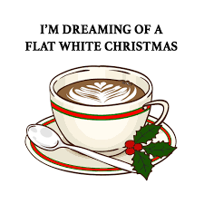 funny coffee flat white card