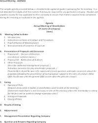 Meeting Announcement Template Shareholder Meeting Template