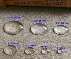 Cabochon Size Chart 100pcs Lot Clear Ellip Glass Cabochon 7 Size 13 18mm 18 25mm 20 30mm Time Precious Stones Diy Jewelry Accessories
