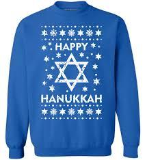 awkward styles happy hanukkah sweatshirt ugly hanukkah sweater jewish gifts