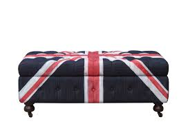Union jack furniture Distressed Union Jack Ottoman Locus Habitat Union Jack Singapore Online Furniture Singapore Union Jack