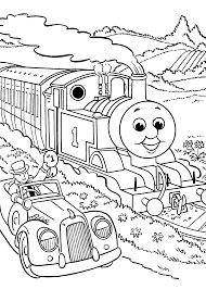 Thomas And Friends Coloring Pages Race