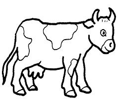 Koe Kleurplaat Google Zoeken Farm Theme Farm Animal Coloring