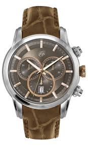 men s belair watches watches fine jewelry by orin jewelers gent s orin stainless steel chronograph watch w brown dial leather strap oj14