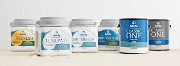 dutch boy gallon paint cans lined up