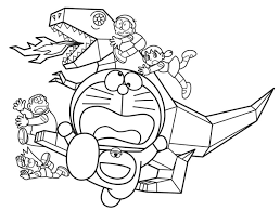 Tranh tô màu Doraemon (73)   Dinosaur coloring pages, Free coloring pages,  Dinosaur coloring