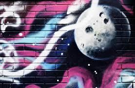 Bolcom Graffiti Behang Graffiti Van Een Eenzame Palnet 380 X