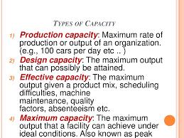 Design Capacity Capacity Planning