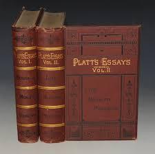 Platt Apos S Essays In Two Volumes Vol 1 Business Money