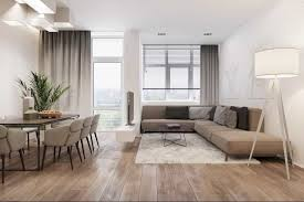 a modern apartment with an open space