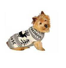 Chilly Dog Sweaters Grey Reindeer