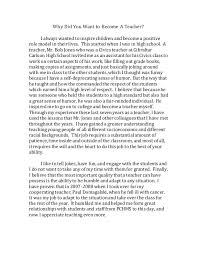 essays on why to be a teacher awesome essay on why i want to become a teacher complete
