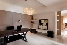 rustic modern office. Modern Home Office Sett. Captivating Design With Black Table And White Flooring Rustic N