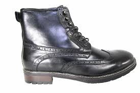 steve madden obstrukt men s black leather wingtip side zip 6