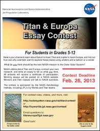 titan astrobiology titan and europa essay contest flyer