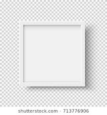 square black frame png. White Realistic Square Empty Picture Frame On Transparent Background. Blank  White Mockup Template Black Png