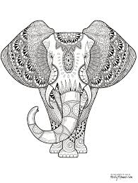 elephant with indian pattern coloring page free printable beauteous elephant abstract doodle zentangle paisley coloring pages colouring