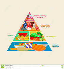 Design A Poster On The Topic Of Healthy Food Healthy Food Pyramid Vector Poster In Flat Style Design