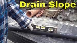 Sewer Pipe Grade Chart The Proper Slope For Drain Pipe Plumbing Basics