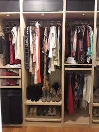 a good budget friendly closet system with a custom look is the ikea pax wardrobe system with ikea komplement accessories the pax wardrobe system is a