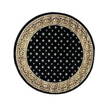 black round rug well woven formal runners for hallways circular small black round stitch circular rug large