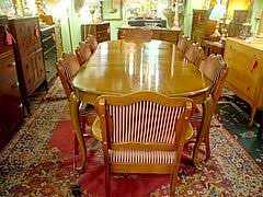 This French Provincial Style Walnut Dining Room Table was manufactured by  the well known Canadian Anthes Baetz Furniture Company Kitchener Ontario  and dates