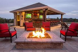 a beautiful fire pit just what your patio needs