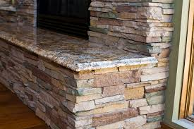 stacked stone fireplace mantel ideas
