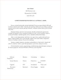 General Labor Resume Objective Najmlaemah Com