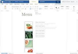Free Menu Templates Microsoft Word Editable Restaurant Menu Free