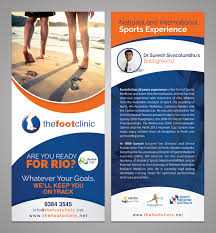 bold playful flyer design for the foot clinic by esolz flyer design by esolz technologies for n sports podiatry business needs a rio olympics marketing flyer