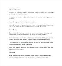 Sample Of A Termination Letter To An Employee End Employment