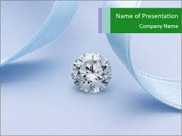 Diamond With Blue Ribbon Powerpoint Template Backgrounds Google