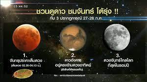 ชวนดู3ปรากฏการณ์! 'ดาวอังคารตรงข้ามดวงอาทิตย์-จันทรุปราคาเต็มดวง-ดวงจันทร์ไกลโลกสุด'  - YouTube