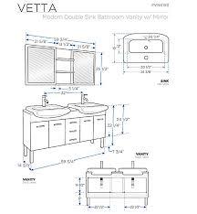what is the standard height of a bathroom vanity standard bathroom sink dimensions