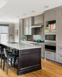 view in gallery transitional kitchen with traditional cabinets in gray design hp rovinelli architects