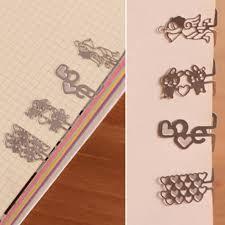 <b>100pcs</b>/<b>lot Mini</b> Metal Bookmark Clips Cute Cartoon Animal Flower ...