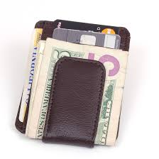 mens leather wallet money clip credit card id holder front pocket thin slim new com
