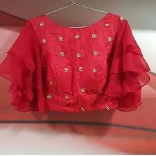 Crop Top Design Pattern Royal Red Crop Top Trendy Blouse Designs Fancy Blouse