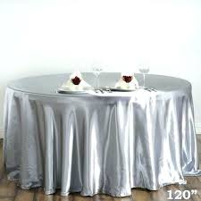 120 inch round plastic tablecloths plastic round tablecloth the round satin silver tablecloth gone smarty had 120 inch round plastic tablecloths
