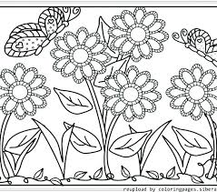 Spring Flowers Printable Coloring Pages Spring Flower Coloring Pages
