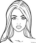 Раскраска девочка с лицом