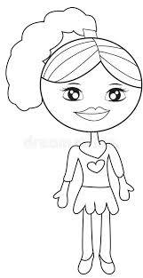 Small Picture Little Girl In A Dress Coloring Page Stock Illustration Image