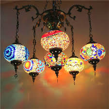 bohemia turkish moroccan pendant light handmade mosaic stained glass corridor stairwell cafe restaurant hanging light lamp contemporary pendant lights