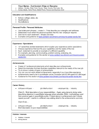 Sample Resume Word Document Free Download Resume Examples
