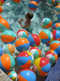 Beach Ball Decoration Ideas This would be fun even without the pool My girls would love to 65