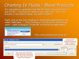 Iv Charting Example How Do I Chart Intravenous Fluids And Blood Products